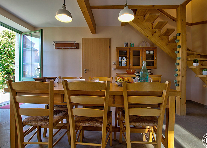Gîte Hauterive - Cuisine et salon chambre d'hôte ain gite de France ain